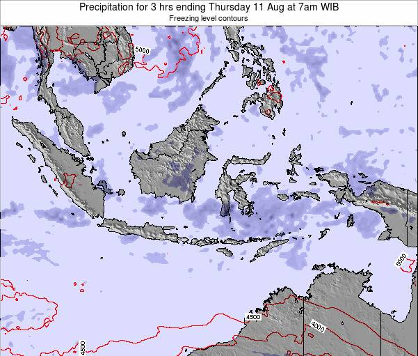 East Timor Precipitation for 3 hrs ending Tuesday 28 May at 1am WIT map