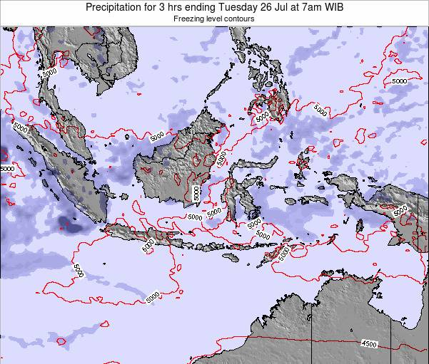 Christmas Island Precipitation for 3 hrs ending Friday 24 May at 1am WIT