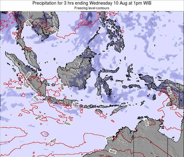 Christmas Island Precipitation for 3 hrs ending Sunday 05 Jun at 1am WIB