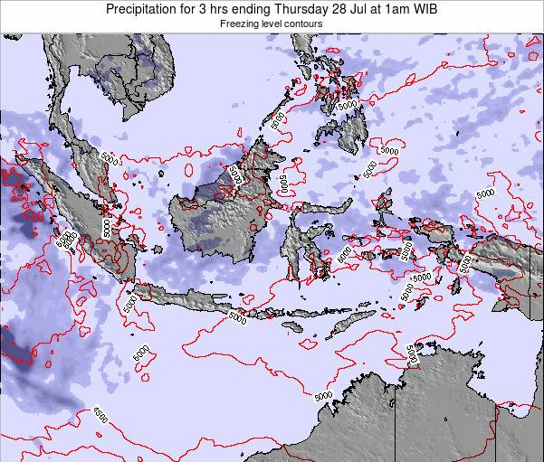 Christmas Island Precipitation for 3 hrs ending Wednesday 11 May at 1am WIB