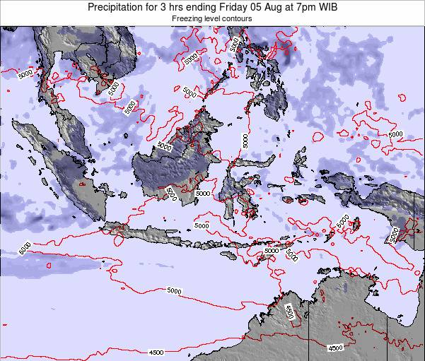 Christmas Island Precipitation for 3 hrs ending Monday 27 Oct at 1am WIT