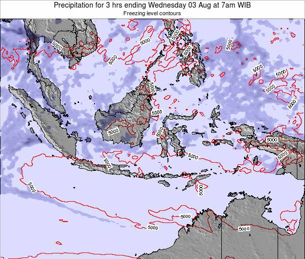 Christmas Island Precipitation for 3 hrs ending Sunday 17 Dec at 7pm WIB map