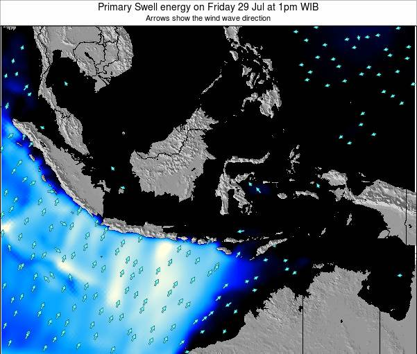 Christmas Island Primary Swell energy on Thursday 30 May at 1am WIT