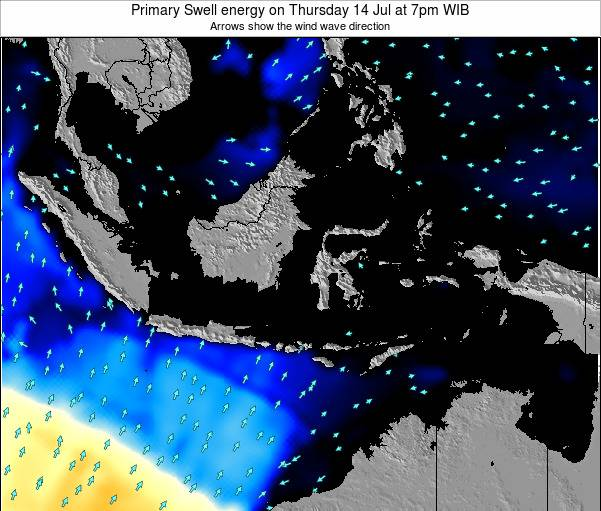 Christmas Island Primary Swell energy on Saturday 18 May at 7pm WIT