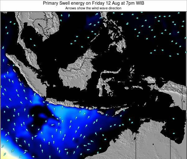 Indonesia Primary Swell energy on Thursday 30 May at 7am WIT