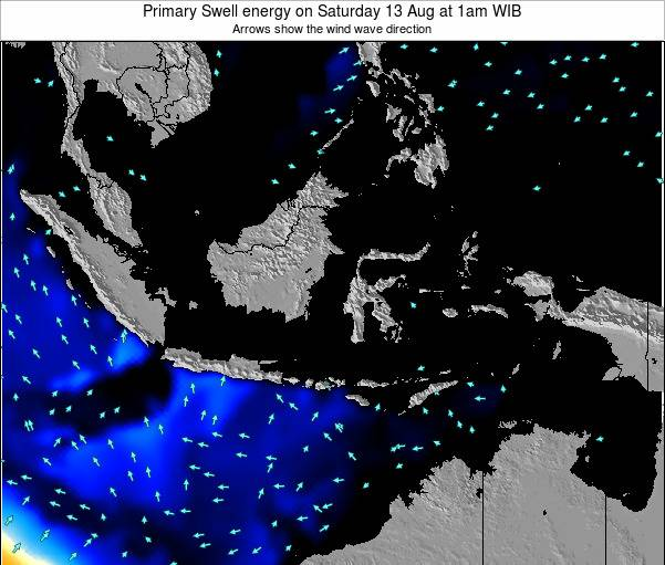 Christmas Island Primary Swell energy on Tuesday 25 Jun at 1pm WIT