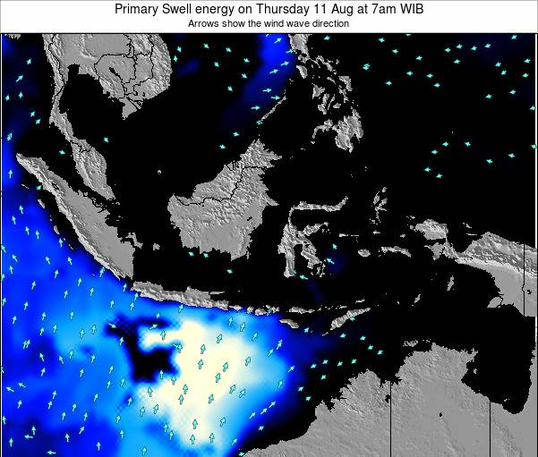 Christmas Island Primary Swell energy on Friday 21 Jun at 1pm WIT