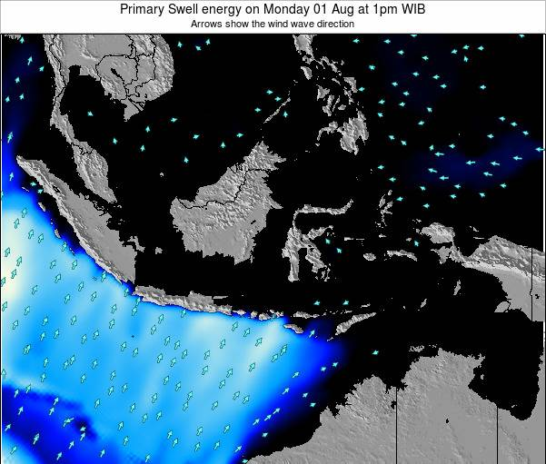 Christmas Island Primary Swell energy on Monday 27 May at 1am WIT
