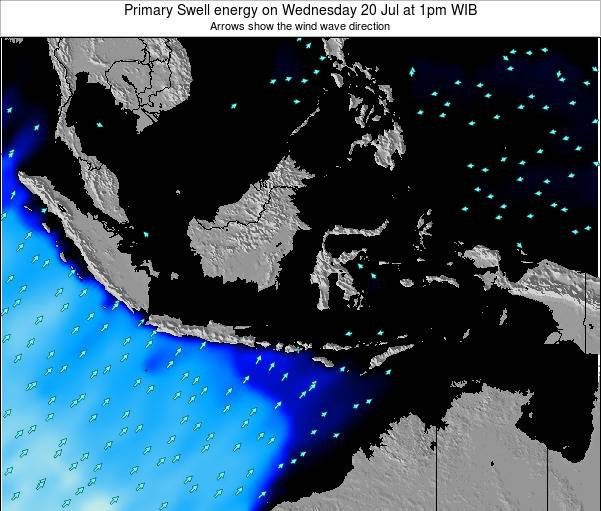 Indonesia Primary Swell energy on Thursday 23 May at 7am WIT