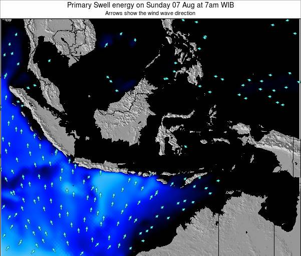 Christmas Island Primary Swell energy on Wednesday 12 Mar at 1pm WIT
