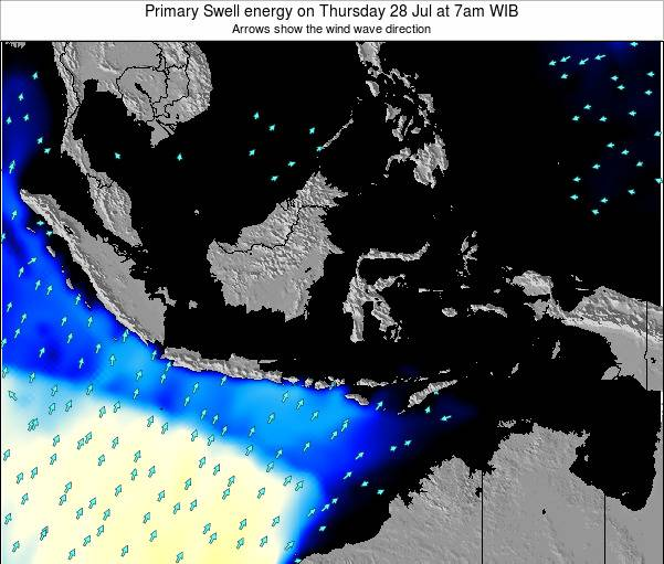 Christmas Island Primary Swell energy on Sunday 07 Feb at 1am WIB