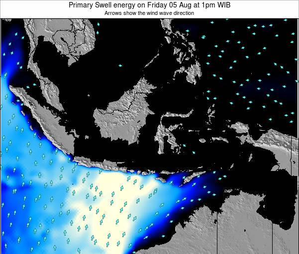 Christmas Island Primary Swell energy on Wednesday 16 Apr at 1pm WIT