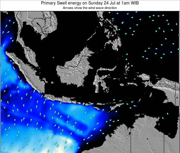 Christmas Island Primary Swell energy on Wednesday 22 May at 1pm WIT