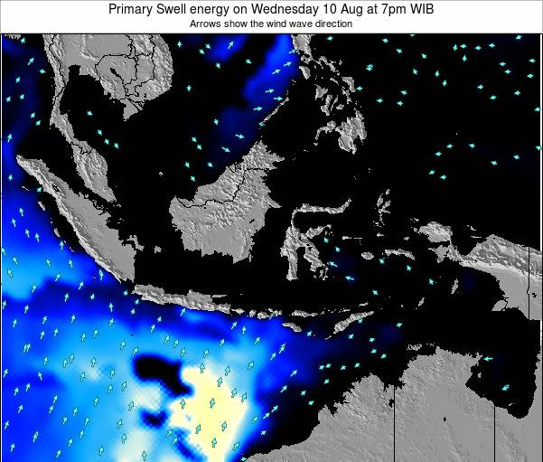 Christmas Island Primary Swell energy on Tuesday 28 May at 7am WIT