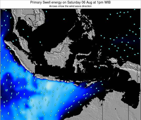 Indonesia Primary Swell energy on Saturday 22 Jun at 7am WIT
