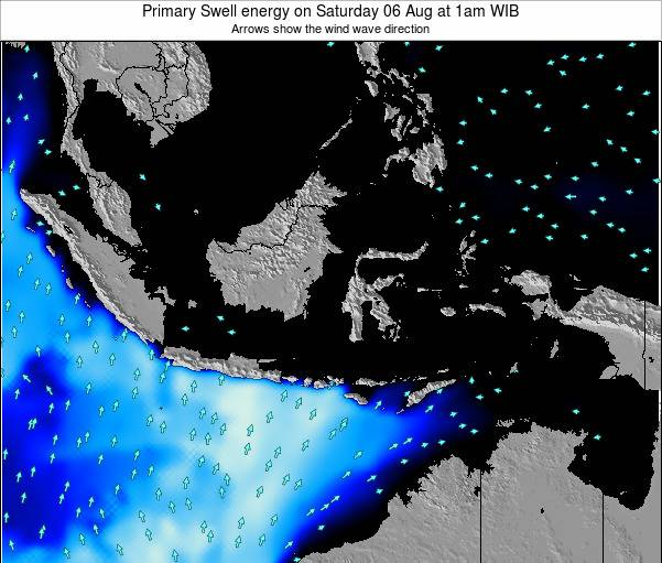 Christmas Island Primary Swell energy on Saturday 25 May at 1pm WIT