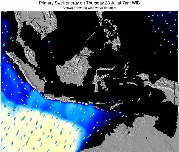 EastTimor Primary Swell energy on Saturday 02 Aug at 7pm WIT