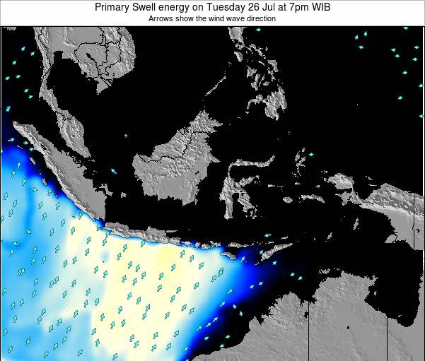 EastTimor Primary Swell energy on Saturday 22 Jun at 1pm WIT