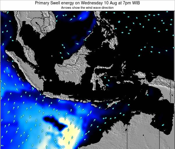 EastTimor Primary Swell energy on Tuesday 29 Jul at 1pm WIT