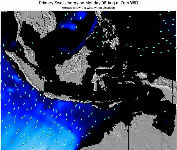 EastTimor Primary Swell energy on Saturday 04 Oct at 7pm WIT