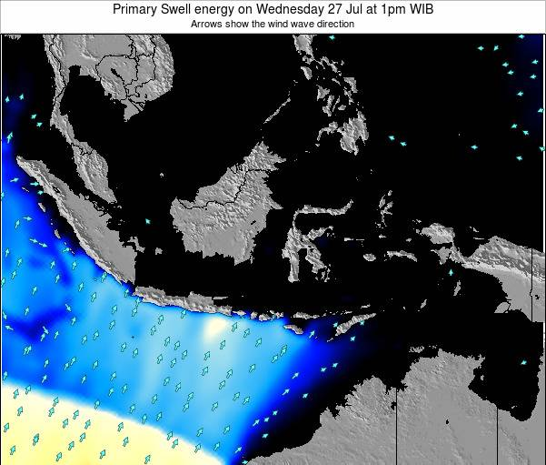 EastTimor Primary Swell energy on Thursday 01 Mar at 1pm WIB map