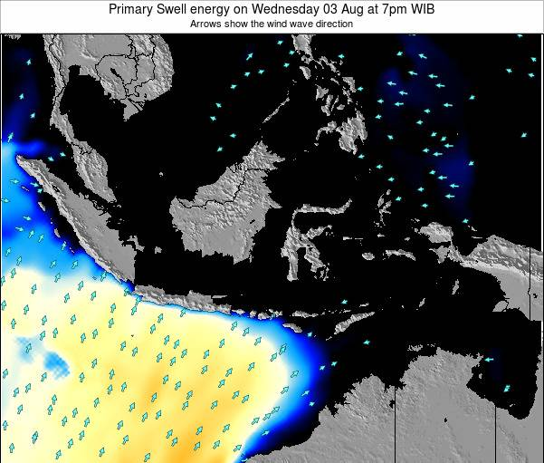 Christmas Island Primary Swell energy on Monday 28 Jul at 7pm WIT