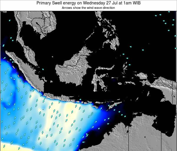 Christmas Island Primary Swell energy on Saturday 29 Oct at 7pm WIB