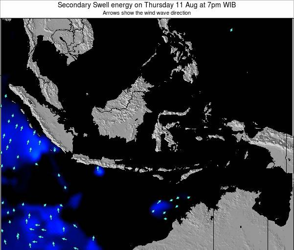 Indonesia Secondary Swell energy on Thursday 13 Mar at 1pm WIT