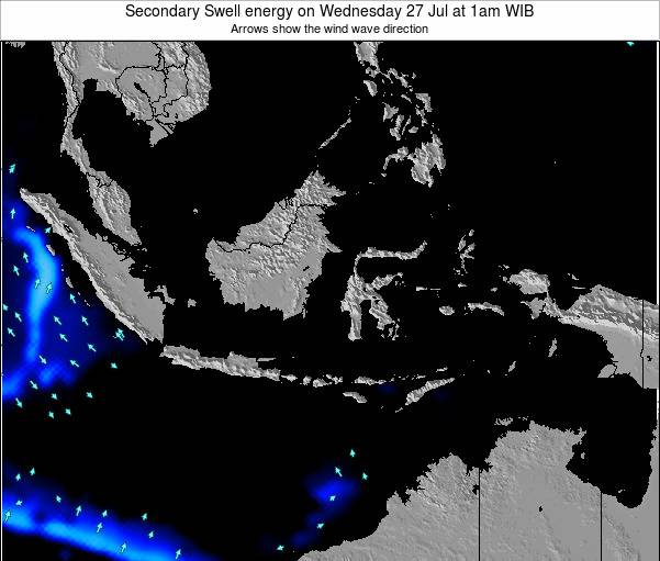 Indonesia Secondary Swell energy on Sunday 27 Apr at 7pm WIT