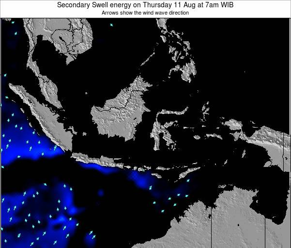Indonesia Secondary Swell energy on Monday 26 Jun at 7pm WIB