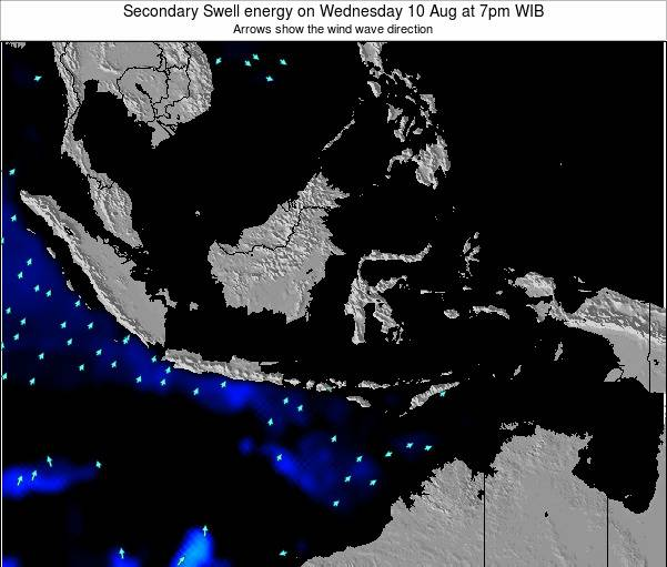 Indonesia Secondary Swell energy on Sunday 06 Sep at 7pm WIB