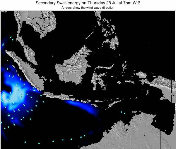Indonesia Secondary Swell energy on Saturday 14 Dec at 7pm WIT