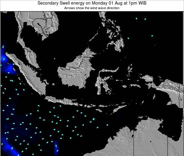 Indonesia Secondary Swell energy on Saturday 26 Jul at 7pm WIT