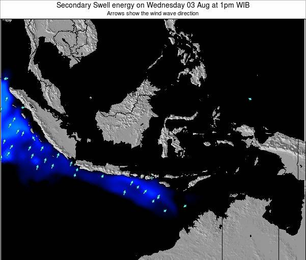 Indonesia Secondary Swell energy on Wednesday 23 Apr at 7am WIT