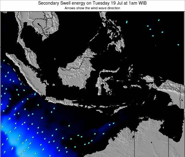 Indonesia Secondary Swell energy on Friday 14 Mar at 1pm WIT