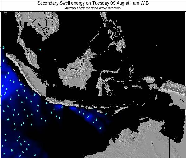 Indonesia Secondary Swell energy on Wednesday 23 Apr at 7pm WIT