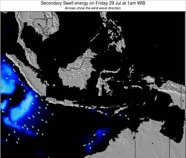 Indonesia Secondary Swell energy on Tuesday 29 Apr at 7pm WIT