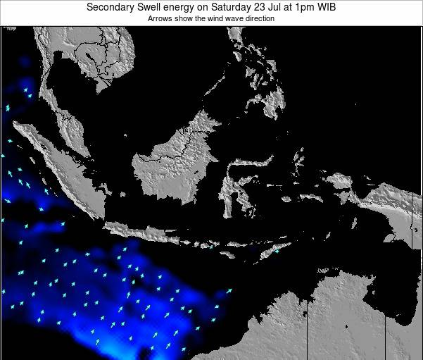 Indonesia Secondary Swell energy on Friday 02 May at 7am WIT