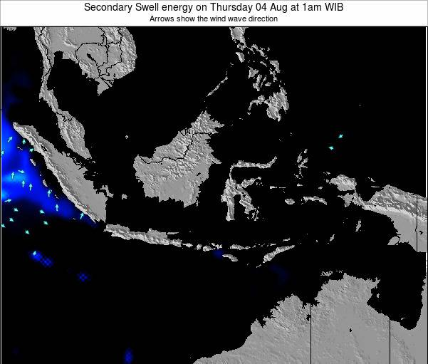 Indonesia Secondary Swell energy on Sunday 05 Jun at 1pm WIB