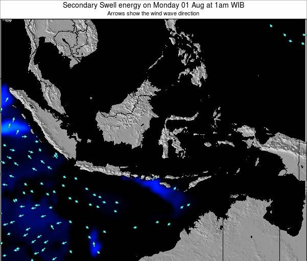 Indonesia Secondary Swell energy on Friday 25 Apr at 7am WIT