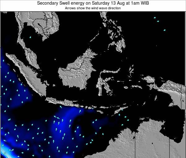 Indonesia Secondary Swell energy on Saturday 05 Dec at 1am WIB