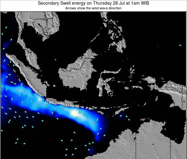 Indonesia Secondary Swell energy on Friday 27 Jan at 7pm WIB
