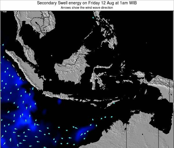 Indonesia Secondary Swell energy on Wednesday 05 Oct at 7am WIB