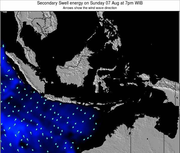 Indonesia Secondary Swell energy on Thursday 07 Aug at 7am WIT
