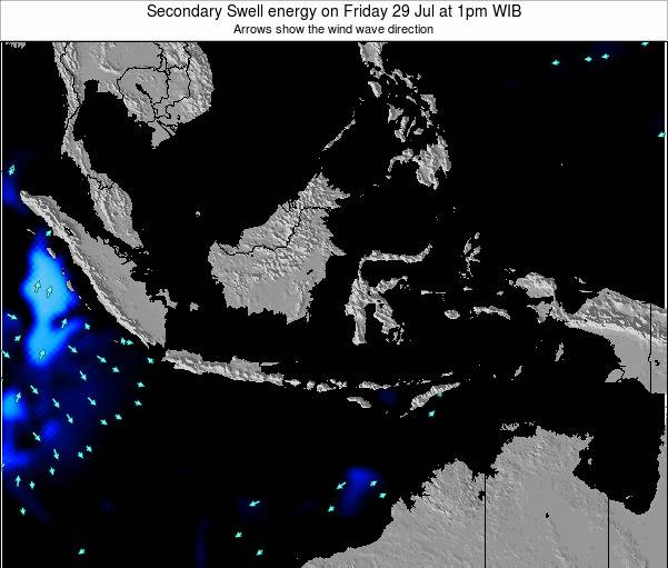 Indonesia Secondary Swell energy on Saturday 20 Dec at 7am WIT