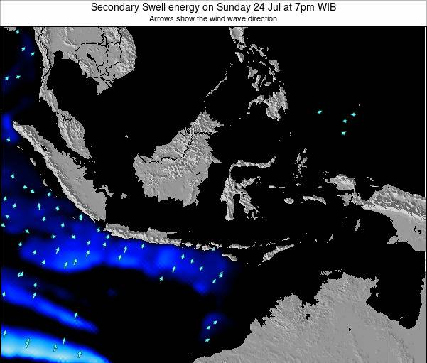 Indonesia Secondary Swell energy on Tuesday 22 Apr at 7am WIT