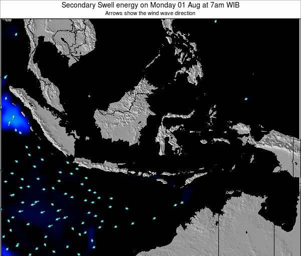 Indonesia Secondary Swell energy on Saturday 07 Dec at 7am WIT