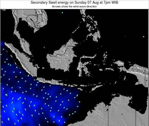 Indonesia Secondary Swell energy on Sunday 09 Mar at 7pm WIT