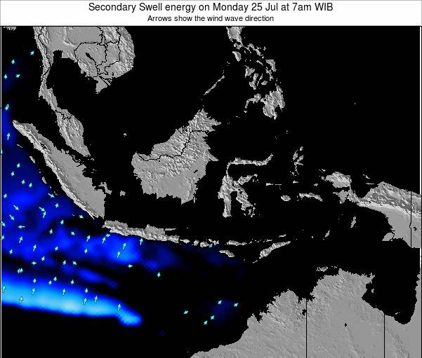 Indonesia Secondary Swell energy on Tuesday 29 Jul at 7pm WIT