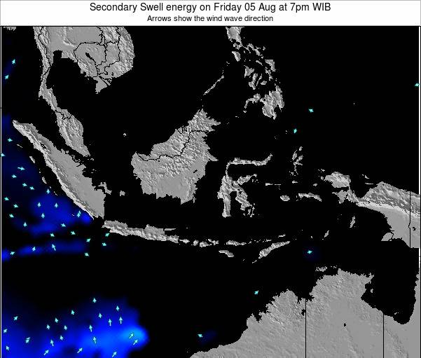 Indonesia Secondary Swell energy on Thursday 25 Dec at 1am WIT